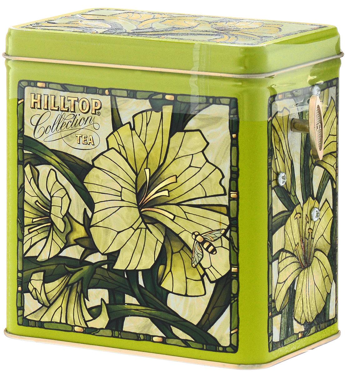 Hilltop Лилии Зеленая симфония набор зеленого листового чая в музыкальной шкатулке, 125 г4607099301047Hilltop Лилии Зеленая симфония - свежий зеленый китайский чай Сенча с лепестками календулы и мальвы. Оригинальная упаковка в виде музыкальной шкатулки будет великолепно смотреться на семейном застолье.