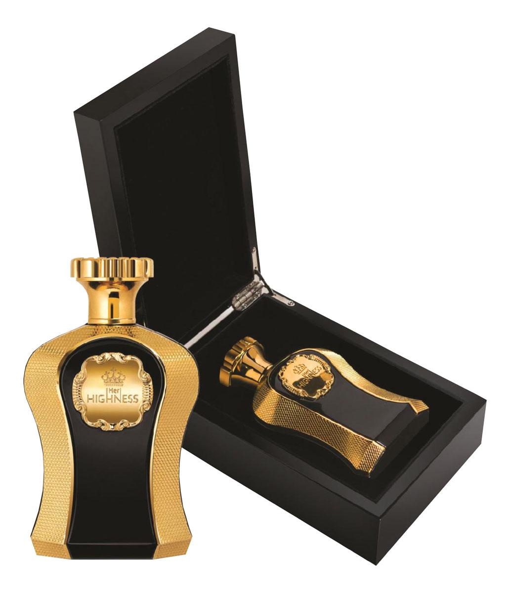 Afnan Her Highness Туалетные духи женские,100мл210540HER HIGHNESS (Её Высочество) - цветочно-восточный аромат для настоящей Королевы! Бархатные аккорды пачули красиво переплетаются с чувственными иланг-илангом и мускусом сводят всех с ума, а пикантную изюминку этому парфюму придают розовый перец, тубероза и слива. С ним комплименты Вам обеспечены всегда! Верхние ноты: слива, груша, розовый перец Ноты «сердца»: тубероза, жасмин, иланг-иланг Базовые ноты: амбра, мускус, пачул