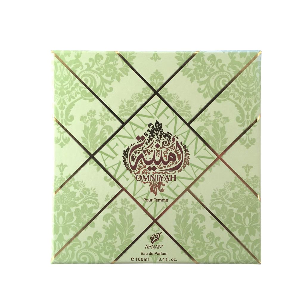 Afnan Omniyah Pour Femme Туалетные духи женские, 100мл210563Обольстительный цветочно-фруктовый аромат для женщин OMNIYAH POUR FEMME «Желание», облачен в роскошный восточный флакон. Базовые ноты сандалового дерева, мускуса, подчеркнуты ароматом клубники, черешни и ванили, что делает аромат притягательным , а обладательницу аромата – желанной Верхние ноты: клубника, черешня, дыня Ноты «сердца»: мимоза, ваниль Базовые ноты: сандаловое дерево, муску