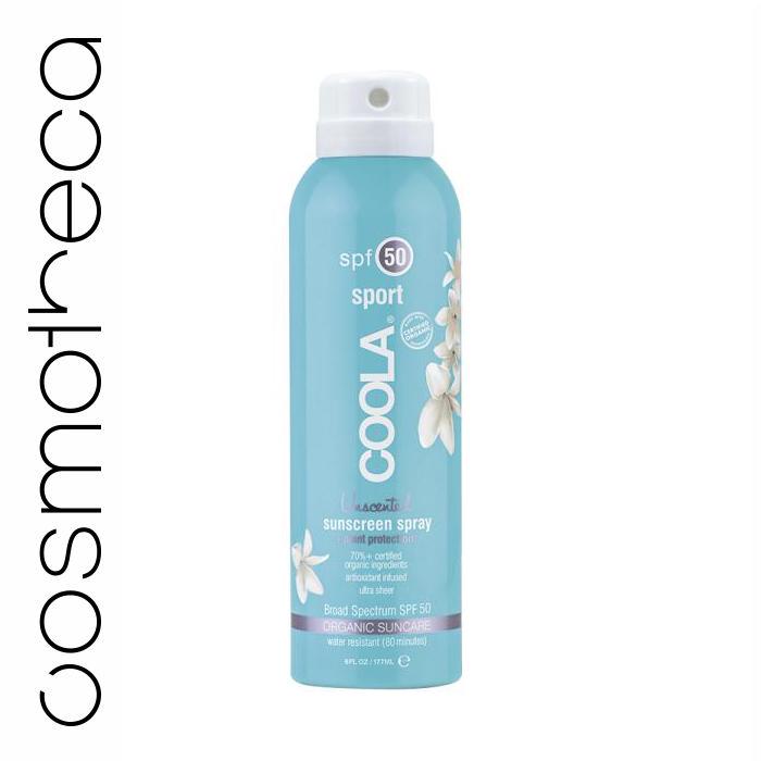 Coola Солнцезащитный спрей для лица и тела без запаха SPF50 177 млCS-S50UNНа ходу распылите этот прозрачный солнцезащитный спрей длительного действия.. Обладая высокой степенью защиты SPF 50, этот спрей будет питать, восстанавливать и увлажнять кожу за счет 97% содержащихся в нем, прошедших сертификацию, органических активных компонентов, таких как Алоэ, Огурец, Морские Водоросли, Экстракт Клубники и Масло Семян Малины, натуральный солнцезащитный фактор и противовоспалительный компонент, богатый Омега 3 и 6 кислотами. Получайте удовольствие от пребывания на солнце вместе с COOLA.