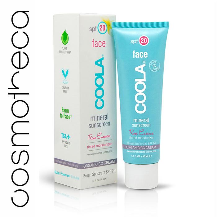 Coola Suncare Солнцезащитный крем Розовая эссенция для лица, увлажняющий, с тональным эффектом, SPF 20, 50 мл