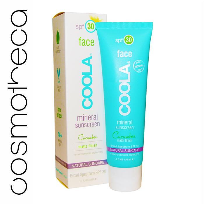Coola Suncare Солнцезащитный матирующий крем Огурец для лица, с минералами, SPF 30, 50 мл