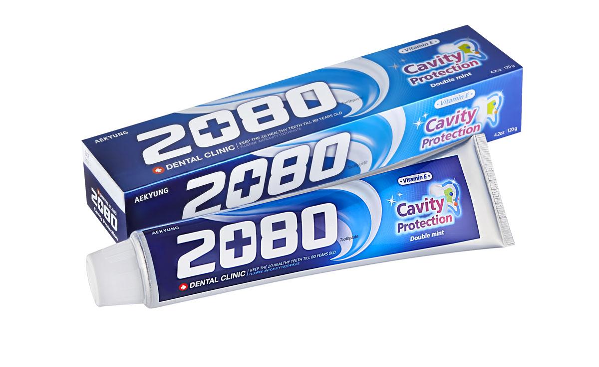 Зубная паста 2080 Натуральная мята, сильномятный вкус, 120 г846087Фторсодержащая зубная паста 2080 Натуральная мята с витамином Е освежает дыхание, защищает от кариеса и отбеливает. Характеристики: Вес: 120 г. Артикул: 6087. Товар сертифицирован.
