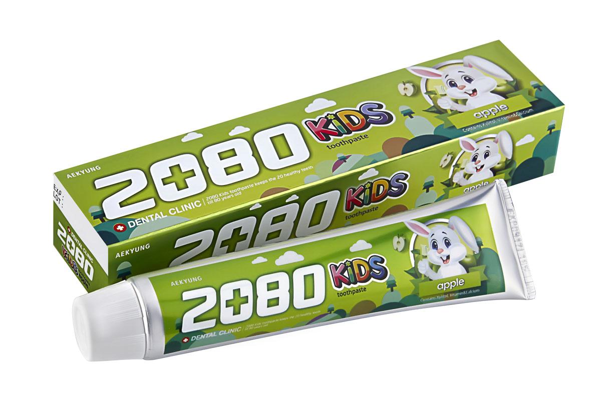 DC 2080 Зубная паста Детская яблоко, 80 г886342Зубная паста содержит вещества специально подобранные для ухода за детскими зубами. Ксилит, натрия монофторфосфат и кальция глицерофосфат предотвращают появление кариеса, способствуют укреплению и формированию зубов. Витамин Е сохраняет здоровье десен. Диоксида кремния - современный абразив, для бережного очищения и защиты эмали. Со вкусом яблока. Для детей от 2-х лет и старше. Характеристики: Вес: 80 г. Артикул: 886342. Производитель: Корея. Товар сертифицирован.