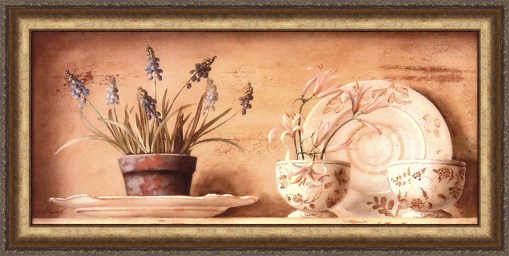 Натюрморт с гиацинтами (Fabrice de Villeneuve), 13 х 25 см13x25 D1857-31204Художественная репродукция картины Fabrice de Villeneuve Printemps - Grape Hyacinths. Размер постера: 13 см х 25 см Артикул: 13x25 D1857-31204.