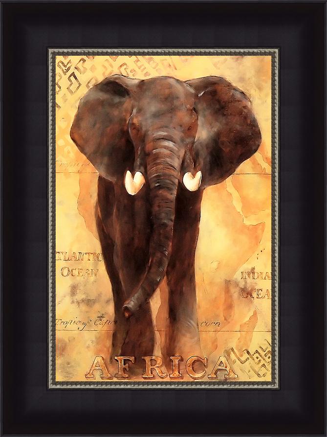 Африканский слон (Gosia Gajewska), 17 x 22 см17x22 D1970-41407Художественная репродукция картины Gosia Gajewska African Voyage I. Размер постера: 17 см x 22 см. Артикул: 17x22 D1970-41407.
