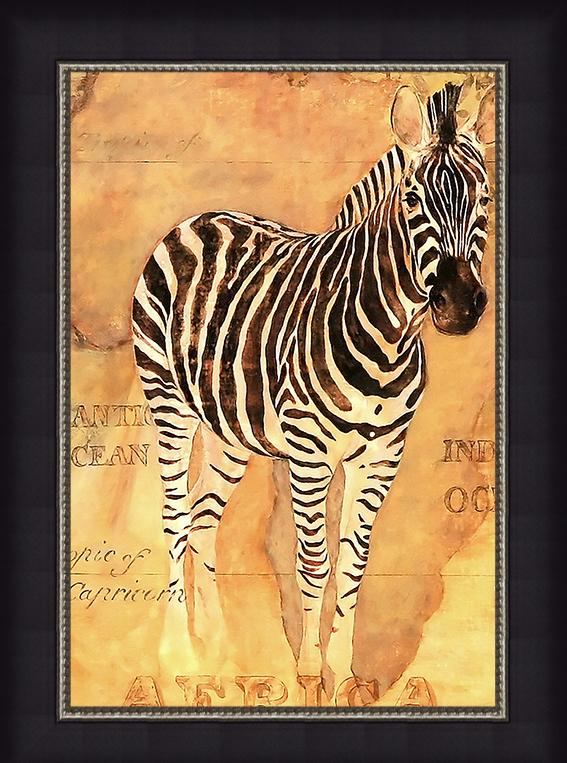 Африканская зебра (Gosia Gajewska), 17 x 22 см17x22 D1971-41407Художественная репродукция картины Gosia Gajewska African Voyage II. Изображение нанесено на чрезвычайно плотную основу (это не бумага и не картон) и обрамлено в багет. Технология изготовления арт-постеров подразумевает обязательную художественную ламинацию каждого изображения, что придает картине дополнительную ценность, а также защищает поверхность от загрязнения, повреждений (в том числе попыток помять, исцарапать изображение), влаги и ультрафиолетовых лучей. Так, например, арт-постеры совершенно спокойно перенесут не одну зиму в дачном или загородном доме. Ламинирование может значительно улучшить качество изображения. Использование пленок дает различную фактуру лицевой поверхности изображения (глянцевую, матовую, холщевую, ситцевую, льняную и другие). Например, при использовании глянцевых пленок изображение проявляется - краски становятся более контрастными и сочными. Технология художественного ламинирования максимально приближает изображение к натуральной...