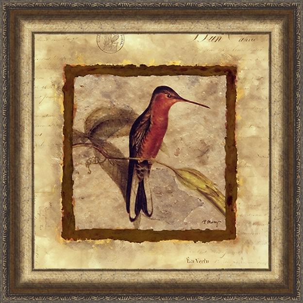 Колибри (Murray Pamela), 18 х 18 см18x18 D1683-312019Художественная репродукция картины Murray Pamela Hummingbird Fragment. Размер постера: 18 см x 18 см. Артикул: 18x18 D1683-312019.