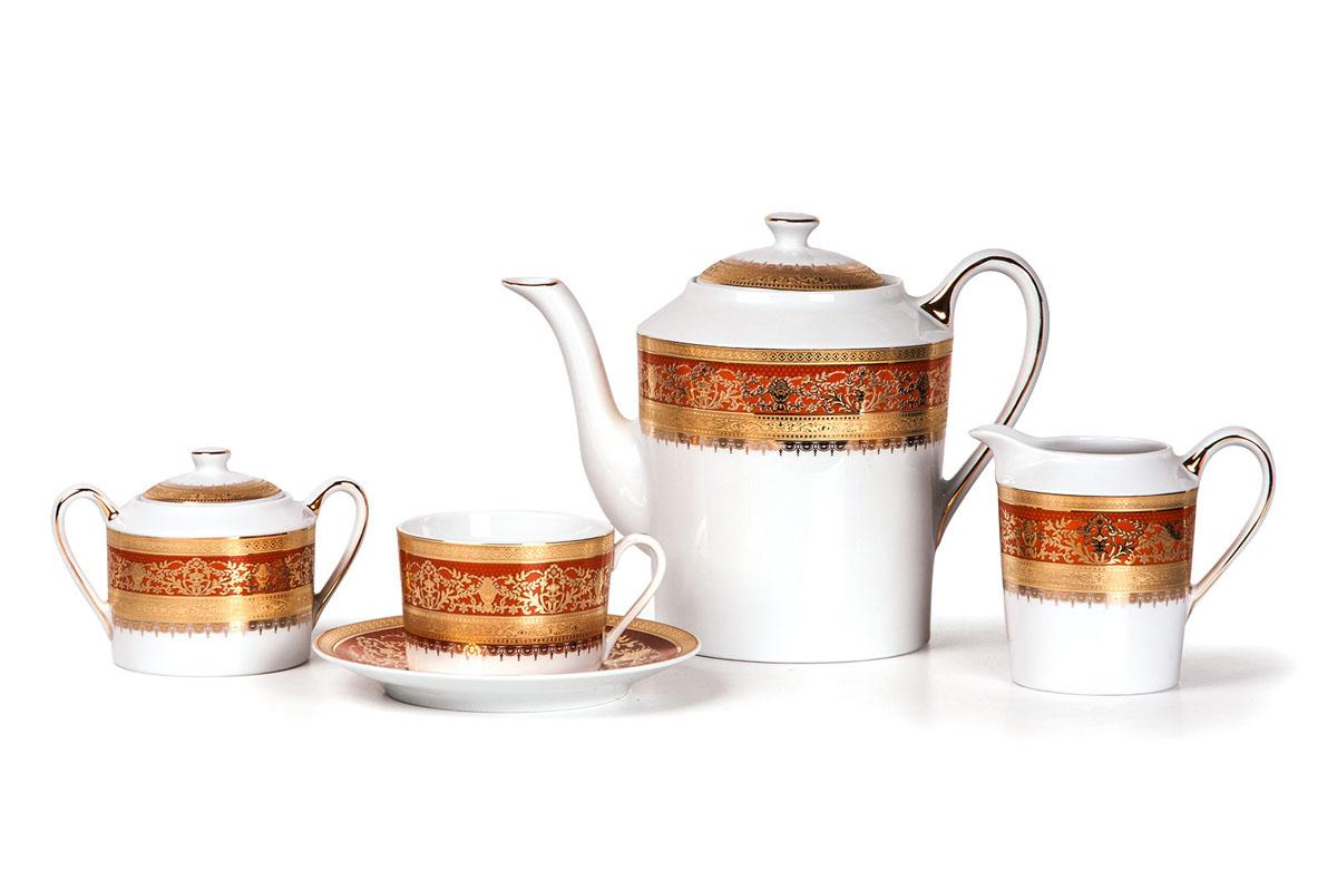 Mimosa 1642 сервиз чайный 15пр, цвет: бело-оранжевый539509 1642Чайник 1,2л, сахарница 250мл, молочник 300мл, чайная пара 220 мл *6 штук . Фарфор фабрики Tunisie Porcelaine, производится в Тунисе из знаменитой своим качеством и белизной глины, добываемой во французской провинции Лимож.Преимущества этого фарфора заключаются в устойчивости к сколам и трещинам, что возможно благодаря двойному термическому обжигу. Европейский дизайн, декор и формы обеспечиваются за счет тесного сотрудничества фабрики с ведущими мировыми дизайн-бюро такими как: Nelly Reynal, Yves De la Rosiere, Sarah Anderson, Heracles.