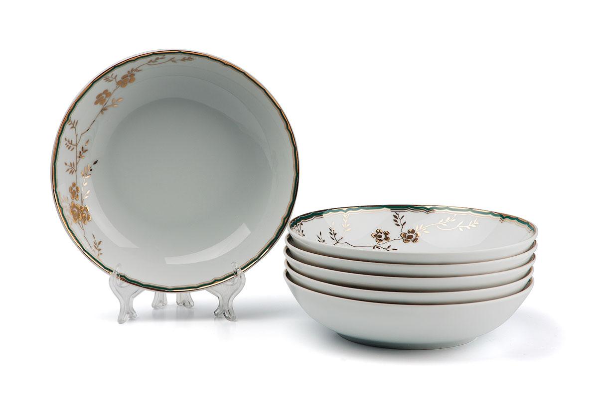 Набор глубоких тарелок , цвет: бело-голубой с золотом559105 2130В наборе глубокая тарелка 6 штук Материал: фарфор: цвет: бело-голубой с золотом Серия: ZEN
