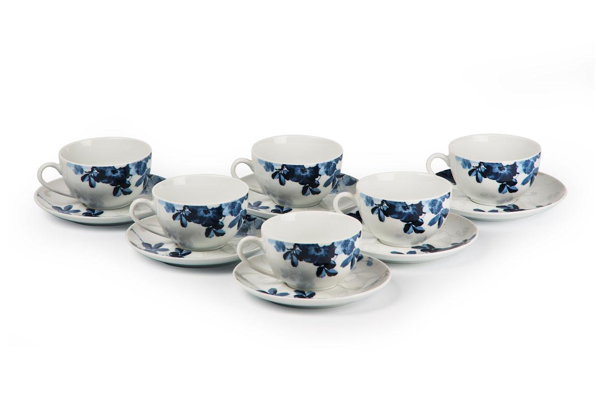 Monalisa 1780 набор чайных пар 210 мл*6шт, цвет: бело-синий619501 1780Чайная пара 210 мл * 6 штук/ 12 предметов Материал: фарфор: цвет: бело-синий Серия: MONALISA