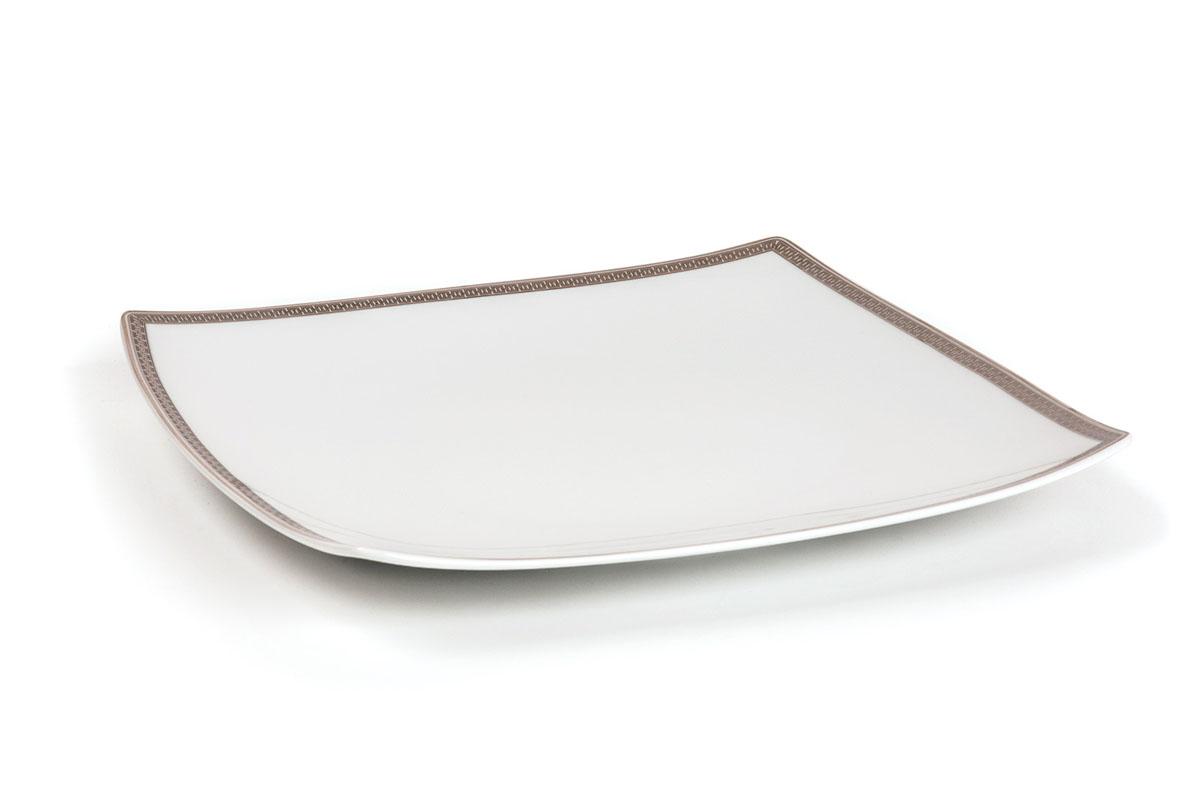 Kyoto 1554 Набор тарелок 26 см, 6 шт/уп, цвет: белый с платиной719100 1554В наборе тарелка 26 см 6 штук
