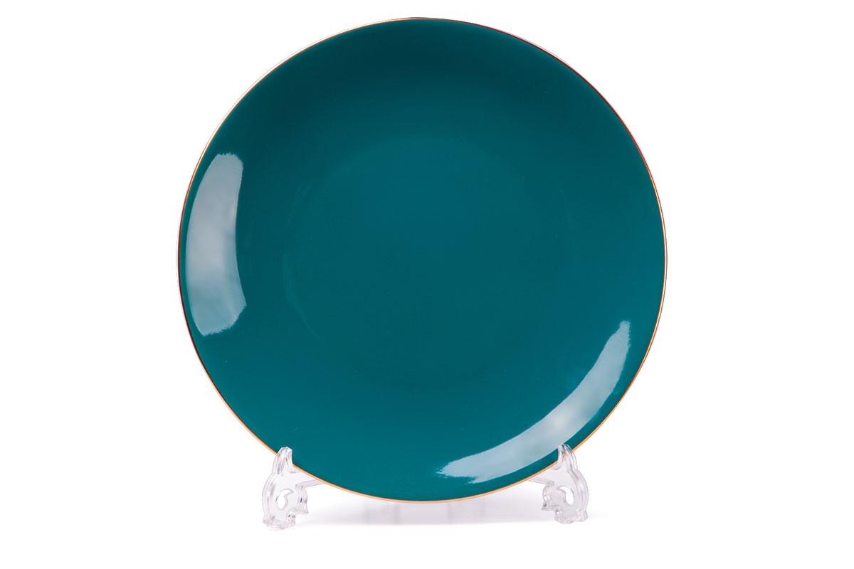 Monalisa 3123 набор тарелок 27 см*6 шт, цвет: бирюзовый с золотом729006 3123В наборе тарелка 27 см 6 штук Материал: фарфор: цвет: бирюзовый с золотом Серия: MONALISA