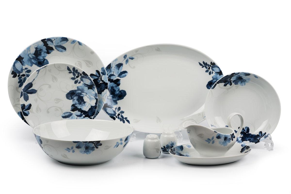 Monalisa 1780 столовый сервиз 24 предмета, цвет: бело-синий729024 1780глубокая тарелка 22 см 6 штук , тарелка 27см 6 штук , десертная тарелка 21см 6 штук , солонка, перечница, Блюдо овальное 24 см, Блюдо овальное 35 см , салатник 25см, соусник 230мл. Элегантная посуда класса люкс теперь на вашем столе каждый день. Сделанные из высококачественного материала с использованием новейших технологий, предметы сервировки Tunisie Porcelaine невероятно прочны и прекрасно подходят для повседневного использования. Материал: фарфор: цвет: бело-синий Серия: MONALISA