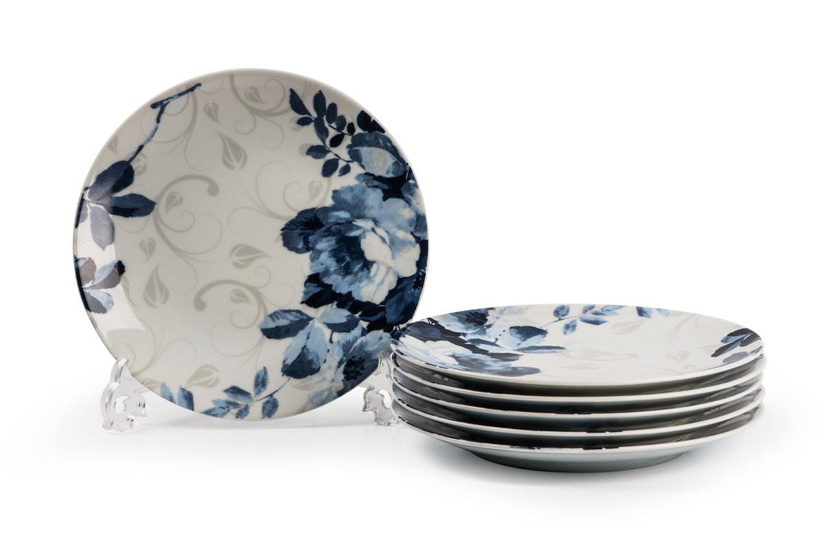 Monalisa 1780 Набор десертных тарелок 21см* 6 шт, цвет: бело-синий729106 1780в наборе тарелка 21 см 6 штук