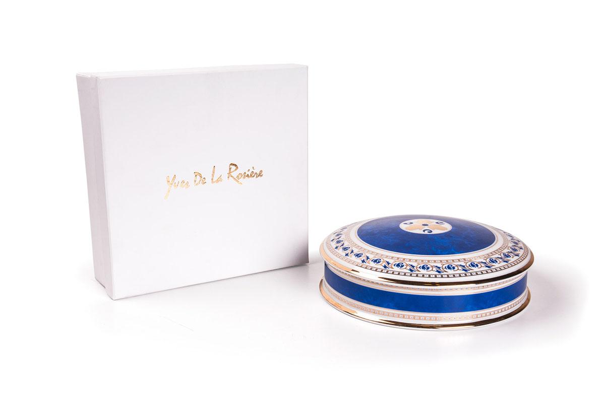 Шкатулка 0280 BLEU диаметр 20 см , цвет: голубая997020 0280Шкатулка 20 см