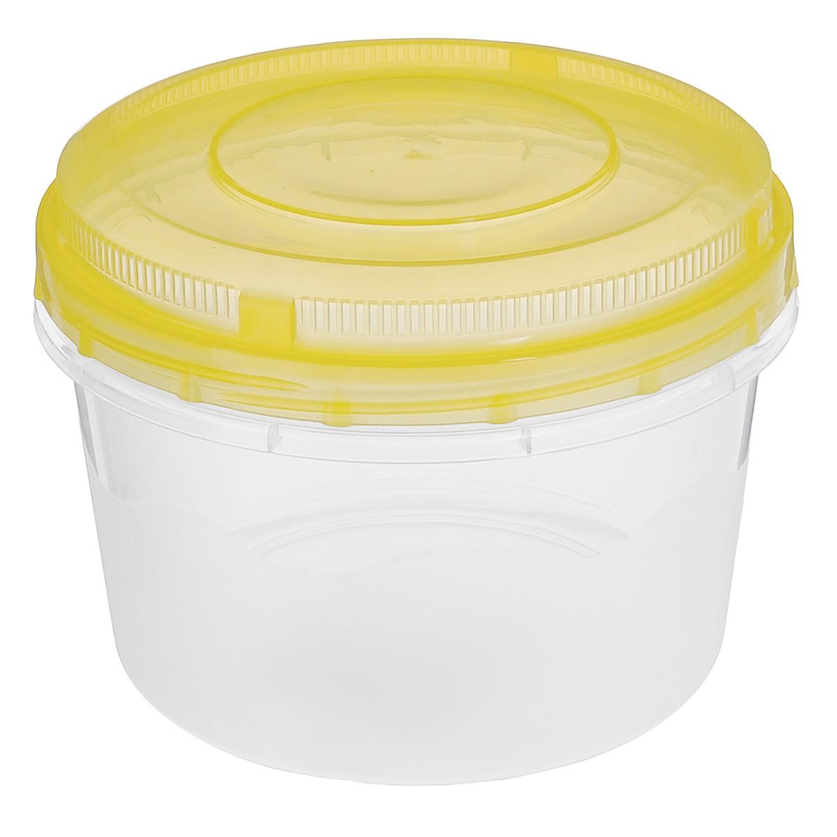 Емкость для СВЧ Альтернатива, цвет: прозрачный, желтый, 1 лМ1185Круглая емкость для СВЧ Альтернатива, выполненная из пластика, предназначена специально для хранения пищевых продуктов. Крышка легко открывается и плотно закрывается. Устойчива к воздействию масел и жиров, легко моется. Прозрачные стенки позволяют видеть содержимое. Емкость необыкновенно удобна: в ней можно брать еду на работу, за город, ребенку в школу. Именно поэтому подобные емкости обретают все большую популярность. Можно мыть в посудомоечной машине.