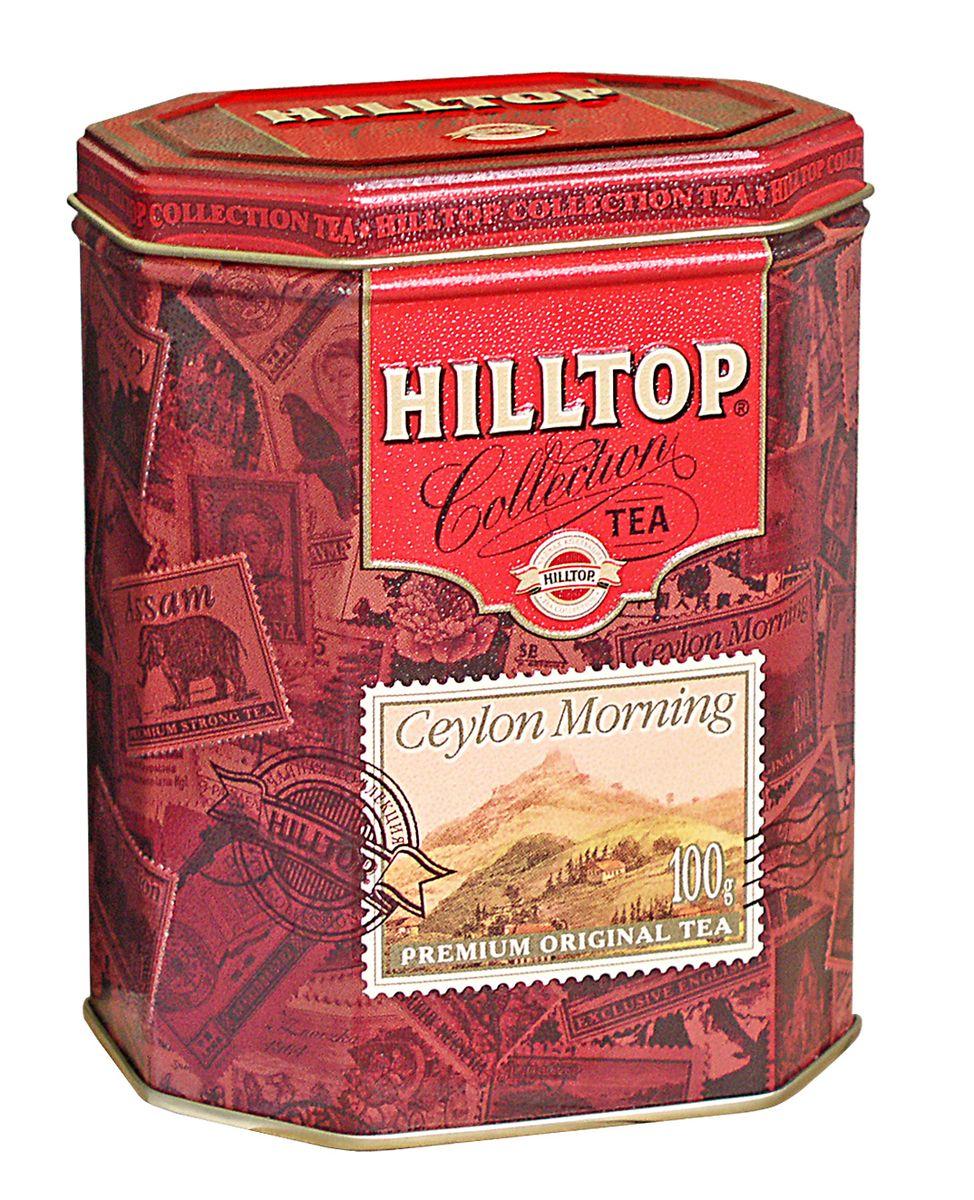 Hilltop Цейлонское Утро черный листовой чай, 100 г4607099300125Классический крупнолистовой черный чай Hilltop Цейлонское Утро с мягким ароматом и тонизирующими свойствами.