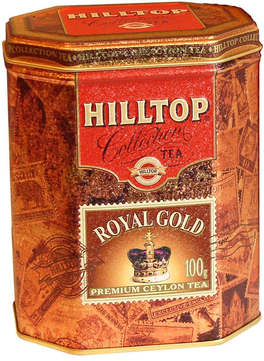 Hilltop Королевское золото черный листовой чай, 100 г4607099300293Крупнолистовой терпкий черный чай Hilltop Королевское золото стандарта Супер Пеко с лучших плантаций Цейлона.
