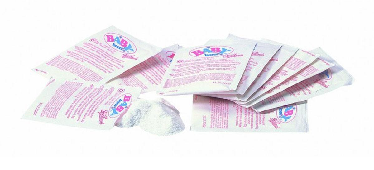 Baby Born Аксессуар для кукол Детское питание779-170Как все-таки малышка Baby Born любит покушать! Она уплетает свое питание за обе щеки! В набор входит 12 пакетиков для приготовления питания для куклы. Внимание! Рекомендуется использовать для кормления куклы Baby Born каши только фирменного производства. Масса пакетика с питанием: 2,5 г. Состав питания: мальтодекстрин, крахмал, витамин С.