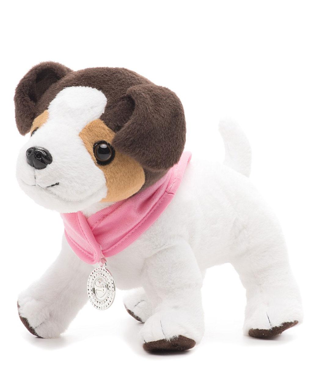 Baby Born Интерактивная игрушка Собака Ронни819-531Интерактивная игрушка Baby Born Собака Ронни позволит вашей малышке почувствовать себя ветеринаром. Мягкая игрушка выполнена из текстильного материала в виде щенка Ронни. На нем надета розовая накидка на липучке. При нажатии на левую переднюю лапку щенок начинает жалобно скулить, а лапка - подсвечиваться красным. Стоит надеть гипс на лапку, и Ронни успокоится. Если сделать щенку укол, Ронни снова заскулит. Сердцебиение щенка можно послушать с помощью стетоскопа. Погладив щенка по голове, малышка услышит довольный лай. В комплект входят шприц, гипс на лапку, стетоскоп и бутылочка для кормления. Ваша малышка будет в восторге от такого подарка! Рекомендуется докупить 3 батарейки напряжением 1,5V типа ААА (товар комплектуется демонстрационными).