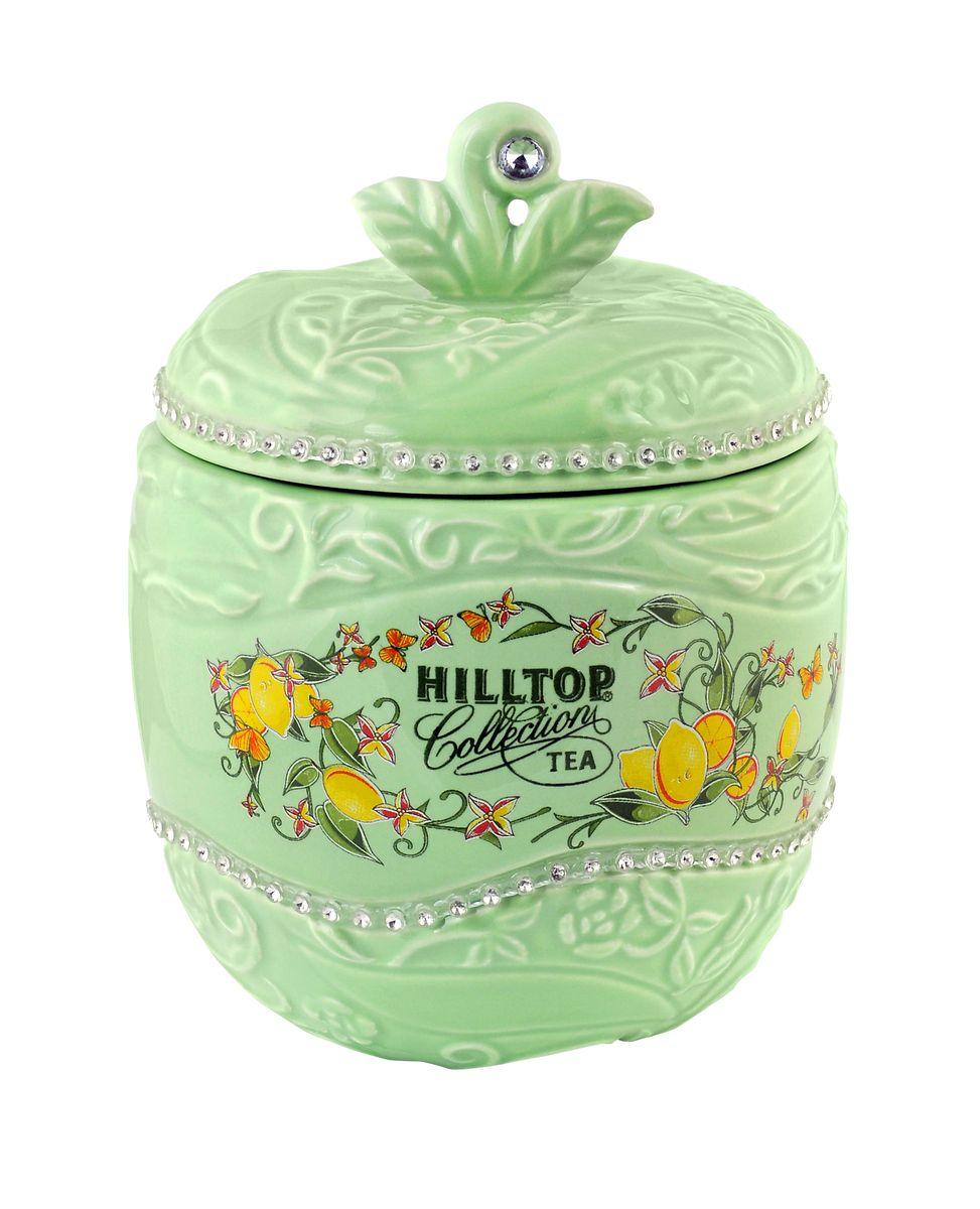 Hilltop Цитрусовая фантазия черный листовой чай в чайнице Яблоко, 80 г4607099304017Hilltop Цитрусовая фантазия - черный чай с благоухающим ароматом апельсинового масла, а также плодами шиповника, лепестками календулы и василька. Помимо этого великолепного чая, в комплекте вы найдете керамическую чайницу Яблоко.