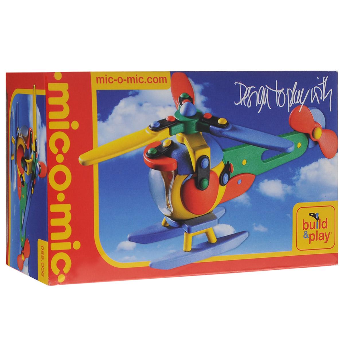 Mic-o-Mic Конструктор Вертолет089.006Яркий пластиковый конструктор Вертолет привлечет внимание вашего ребенка и не позволит ему скучать. С помощью элементов конструктора ребенок сможет собрать разноцветный вертолет, детали которого соединяются болтами. В комплект также входят запасные кнопки, пластины и инструмент для монтажа. Развивающие конструкторы Mic-o-Mic объединяют в себе дизайн и особое ощущение при прикосновении с обучающей педагогической идеей. Во время сборки модели особенно развиваются мелкая моторика и сила воображения, логическое и пространственное мышление и творческие способности, а также концентрация внимания и усидчивости. Оригинальные конструкторы Mic-o-Mic разработаны в Германии и являются особыми игрушками для детей, направленными на развитие различных способностей и навыков. Набор состоит из отдельных деталей с приятной на ощупь текстурой и уникальной системы крепления из соединительных планок и кнопок для сборки модели. Будь то крылья, колеса или паруса, модели отличаются...