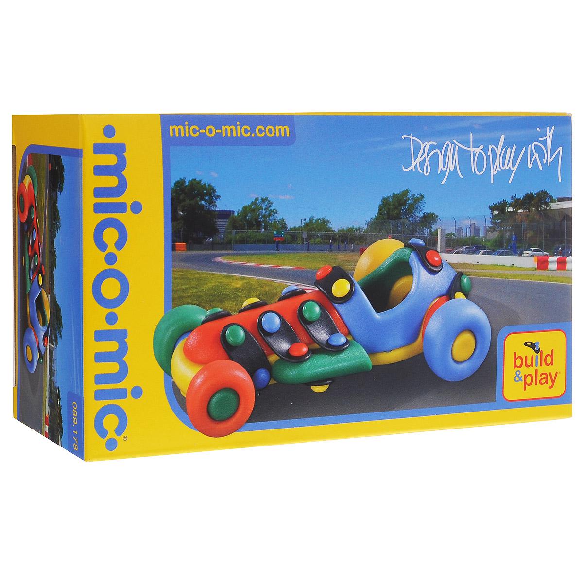 Mic-o-Mic Конструктор Машинка гоночная089.178Яркий пластиковый конструктор Машинка гоночная привлечет внимание вашего ребенка и не позволит ему скучать. С помощью элементов конструктора ребенок сможет собрать разноцветную машинку, детали которой соединяются болтами. В комплект также входят запасные кнопки, пластины и инструмент для монтажа. Развивающие конструкторы Mic-o-Mic объединяют в себе дизайн и особое ощущение при прикосновении с обучающей педагогической идеей. Во время сборки модели особенно развиваются мелкая моторика и сила воображения, логическое и пространственное мышление и творческие способности, а также концентрация внимания и усидчивости. Оригинальные конструкторы Mic-o-Mic разработаны в Германии и являются особыми игрушками для детей, направленными на развитие различных способностей и навыков. Набор состоит из отдельных деталей с приятной на ощупь текстурой и уникальной системы крепления из соединительных планок и кнопок для сборки модели. Будь то крылья, колеса или паруса, модели отличаются...