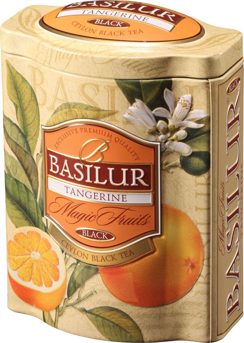 Basilur Tangerine черный листовой чай, 100 г (жестяная банка)70532-00Чёрный цейлонский байховый листовой чай Basilur Мандарин с цедрой мандарина, лепестками лимонной вербены и цветка апельсина, и ароматами мандарина, ванили и сливок наполнит дом сладким ароматом. Красивая упаковка позволит вам преподнести этот чай в подарок к любому торжеству, или же украсить ей свою кухню и порадовать близких на домашнем чаепитии.