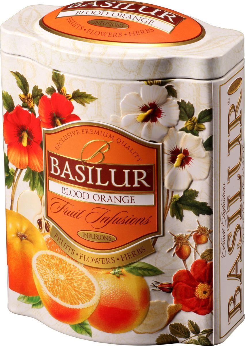 Basilur Blood Orange фруктовый листовой чай, 100 г (жестяная банка)70529-00Фруктовый чай Basilur Blood Orange с кусочками яблока, цедрой апельсина, гибискусом, шиповником, лепестками подсолнечника и цветками апельсина. Чай Basilur Красный апельсин - взрыв изысканных цитрусовых ароматов, который освежит ваш вкус с каждым глотком. Восхитительное сочетание натурального яблока, пикантной апельсиновой корки, цветов апельсинового дерева и других натуральных компонентов. Прекрасно утоляет жажду в холодном виде и будет идеальным дополнением к десерту.