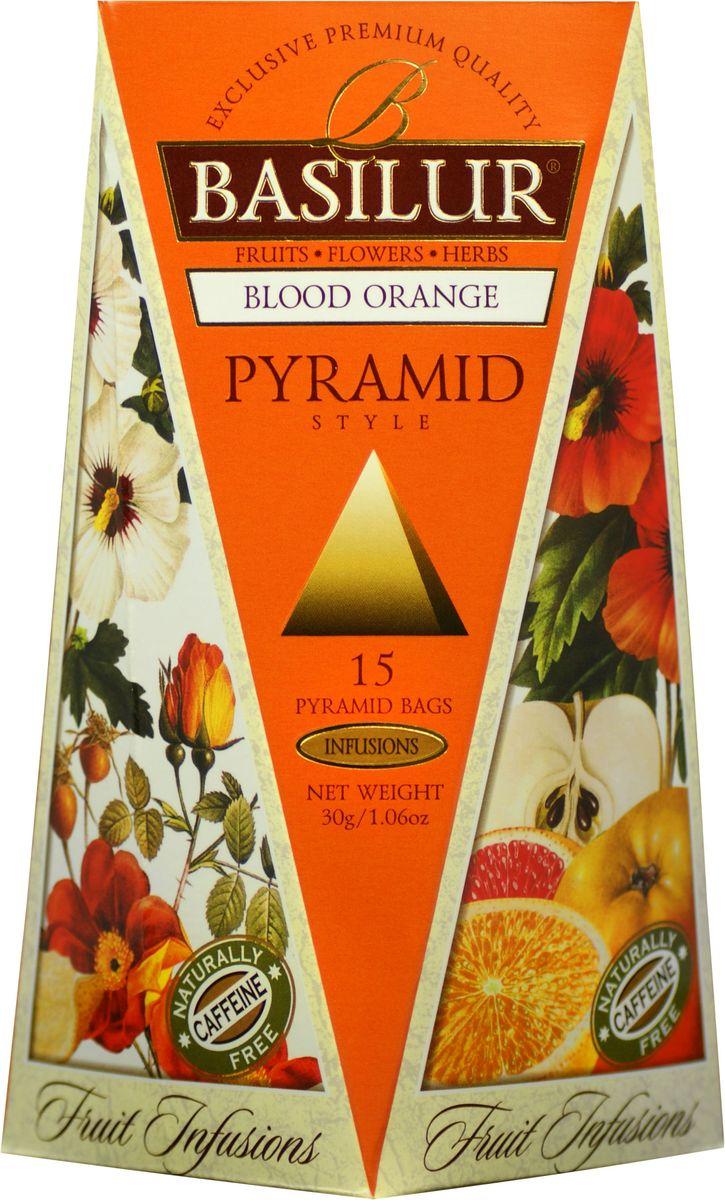 Basilur Blood Orange фруктовый чай в пакетиках, 15 шт70657-00Basilur Blood Orange - фруктовый чай с кусочками яблока, цедрой апельсина, гибискусом, шиповником, лепестками подсолнечника и цветками апельсина и ароматами апельсина и сливок в чайных пирамидках. Это настоящий взрыв изысканных цитрусовых ароматов, который освежит ваш вкус с каждым глотком. Прекрасно утоляет жажду в холодном виде и будет идеальным дополнением к десерту.
