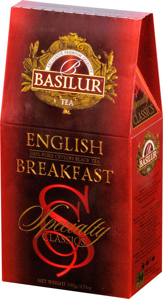 Basilur English Breakfast черный листовой чай, 100 г70770-00Basilur English Breakfast - черный байховый листовой чай. Насыщенный, крепкий и богатый вкус черного чая хорошо сочетается с молоком и сахаром, в стиле, который традиционно ассоциируется с настоящим английским завтраком.