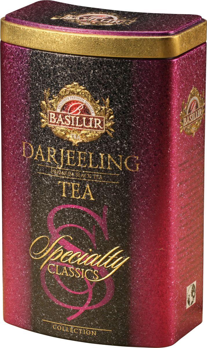 Basilur Darjeeling черный листовой чай, 100 г (жестяная банка)70291-01Чай чёрный индийский байховый листовой Basilur Darjeeling (Дарджилинг). Выращенный в предгорьях Гималаев чай Дарджилинг имеет ярко выраженный и при этом нежный вкус, его часто называют Шампанским всех видов чая.