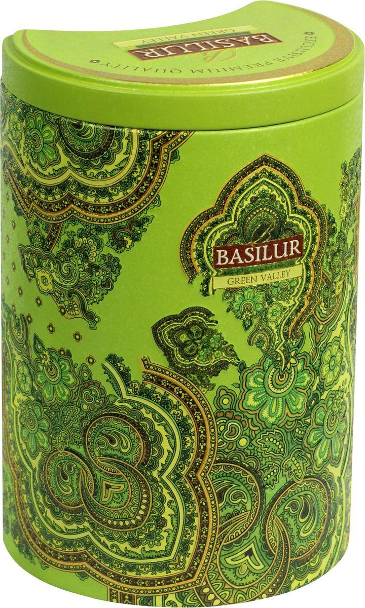 Basilur Green Valley зеленый листовой чай, 100 г (жестяная банка)70930-00Basilur Green Valley - зеленый байховый листовой чай. Приятный на вкус и богатый своими отличительными свойствами цейлонский зелёный чай является кульминацией богатой истории выращивания чая на острове Цейлон. Ценные компоненты входящие в его состав, такие как флавоноиды, антиоксиданты и катехины, предотвращают окислительное повреждение в клетках лучше чем витамины С и Е, делая чай отличным помощником в поддержании здорового образа жизни и приятным напитком в течении всего года.