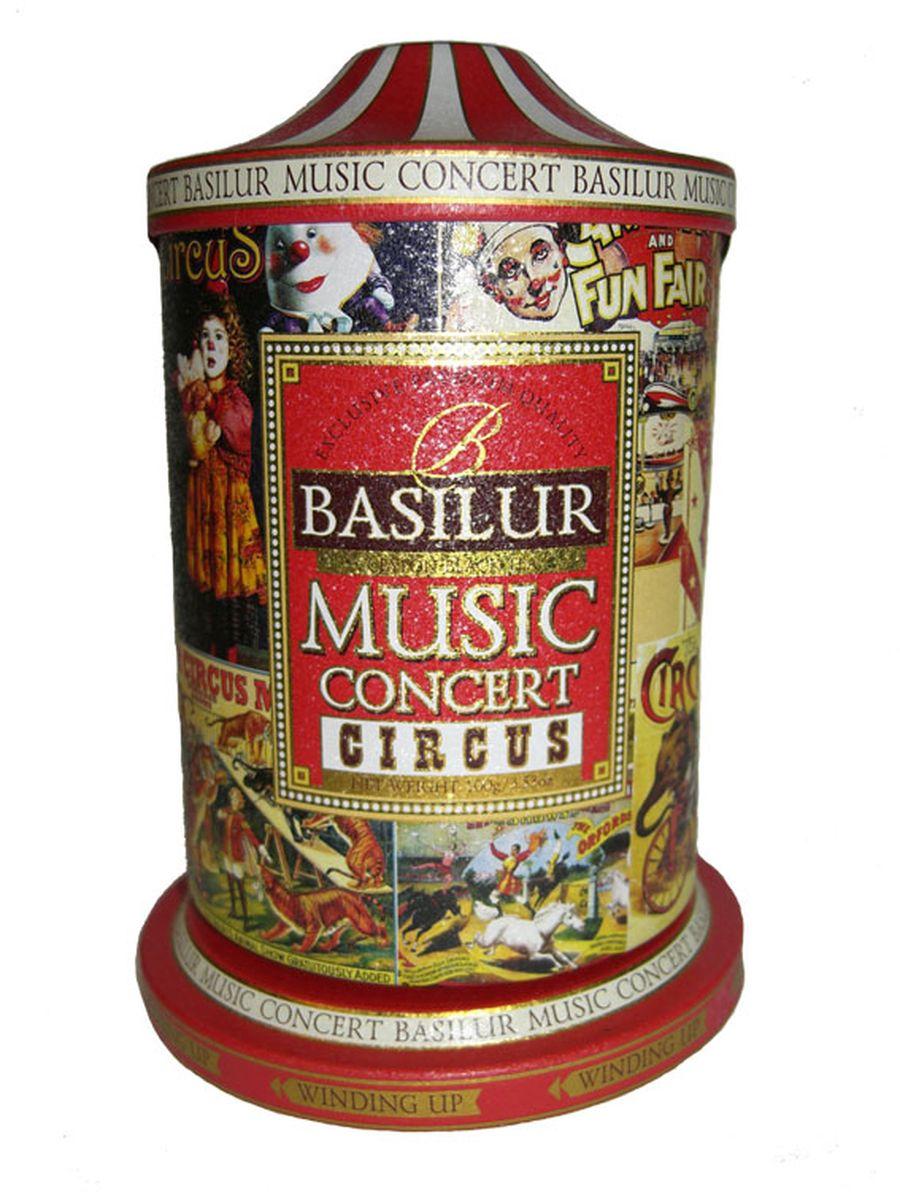 Basilur Music concert Circus черный листовой чай, 100 г (жестяная банка)
