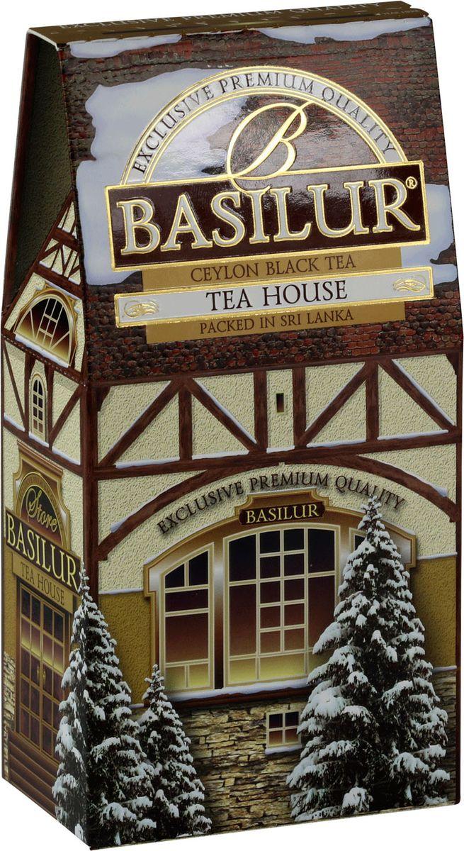 Basilur Tea House черный листовой чай, 100 г71082-00Чай чёрный цейлонский байховый листовой Basilur Tea House с лепестками василька и ароматами персика и сливок.