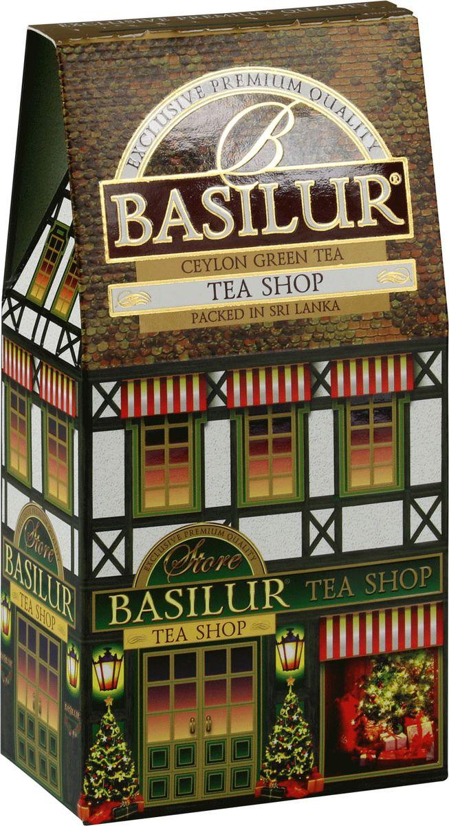 Basilur Tea Shop зеленый листовой чай, 100 г71085-00Чай зелёный цейлонский байховый листовой Basilur Tea Shop с кусочками клюквы, ананаса и яблока, лепестками василька и ароматами вишни и ванили.