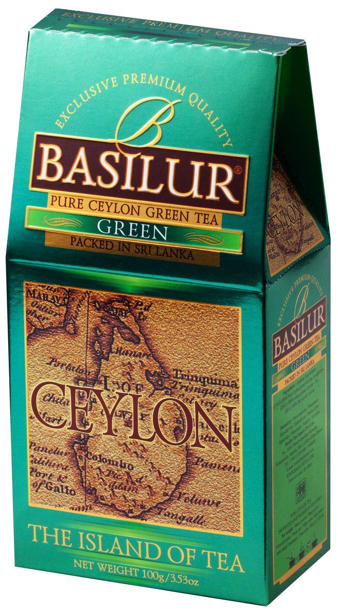 Basilur Green зеленый листовой чай, 100 г70249-00Basilur Green OPA - зеленый байховый листовой чай. Цейлонский зеленый чай способствует здоровью и долголетию. Минимальная обработка этого вида чая позволяет сохранить большинство витаминов, минералов, антиоксидантов, и других биоактивных веществ, благотворно влияющих на организм.