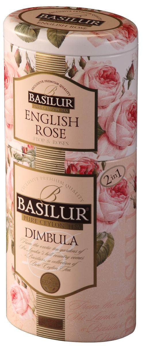 Basilur Dimbula + English Rose черный листовой чай, 125 г (жестяная банка)70254-00Basilur Dimbula / English Rose - набор из двух видов черного цейлонского чая. Состав набора: Basilur English Rose - черный цейлонский байховый листовой чай с лепестками и ароматом розы. Basilur Dimbula - черный цейлонский листовой чай.