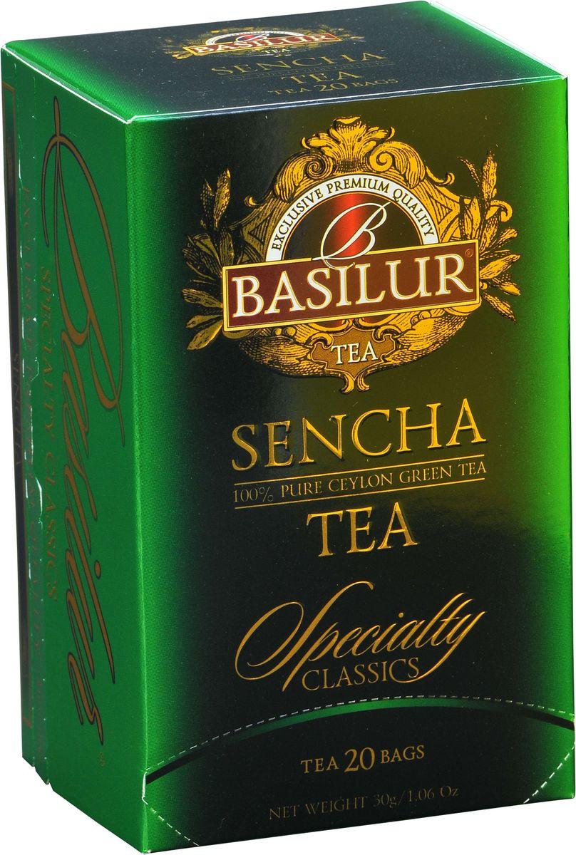 Basilur Sencha зеленый чай в пакетиках, 20 шт70294-00Чай зелёный цейлонский байховый мелколистовой Basilur Sencha в пакетиках с ярлычками для разовой заварки. Зеленому чаю Сенча присущ мягкий, приятный вкус и насыщенный цвет настоя, который получается благодаря лёгкой обработки паром листьев сразу после сбора. Этот полезный напиток освежит ваше дыхание и придаст ясность мыслям. Идеально подходит для людей ведущих здоровый образ жизни.