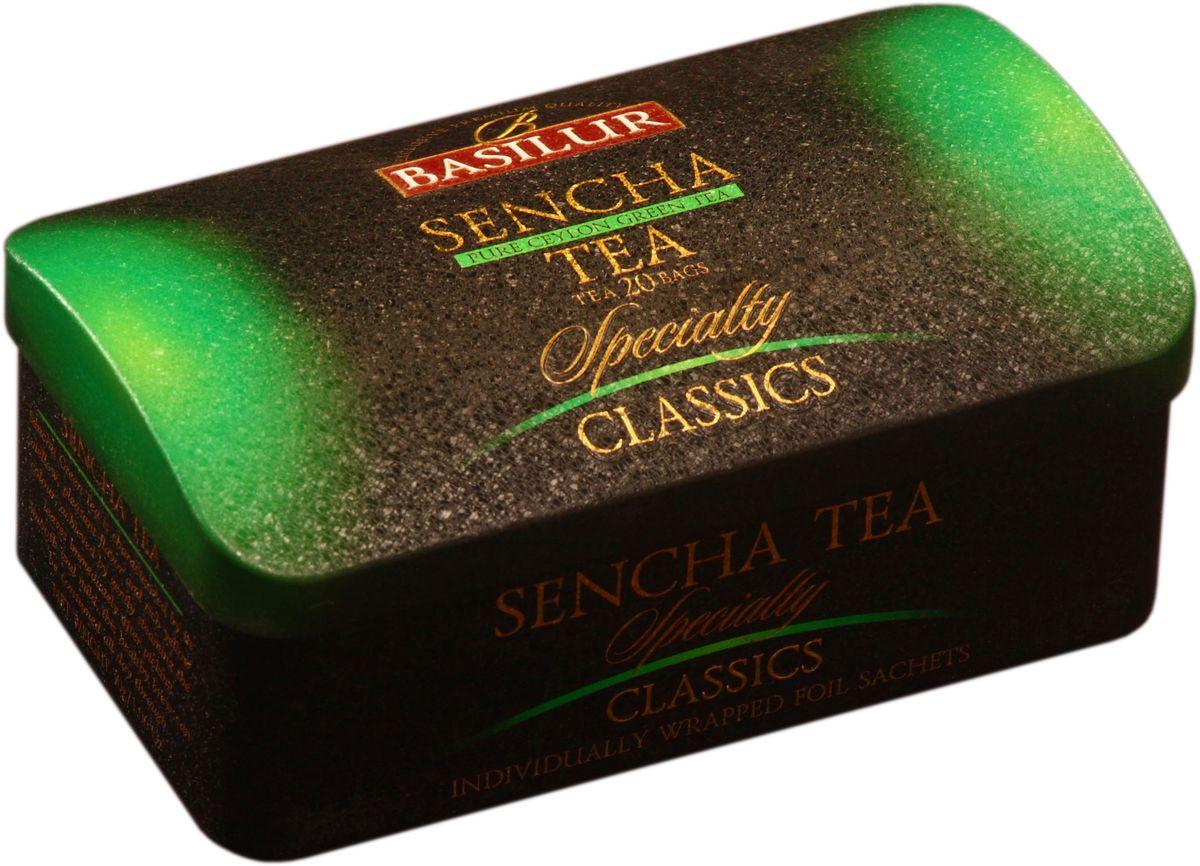 Basilur Sencha зеленый чай в пакетиках, 20 шт (жестяная банка)70299-00Чай зелёный цейлонский байховый мелколистовой Basilur Sencha в пакетиках с ярлычками для разовой заварки. Зеленому чаю Сенча присущ мягкий, приятный вкус и насыщенный цвет настоя, который получается благодаря лёгкой обработки паром листьев сразу после сбора. Этот полезный напиток освежит ваше дыхание и придаст ясность мыслям. Идеально подходит для людей ведущих здоровый образ жизни.