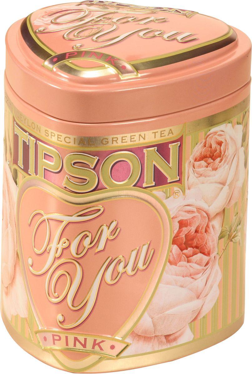 Tipson Pink зеленый листовой чай, 75 г (жестяная банка)80041-00Чай зелёный цейлонский байховый листовой Tipson Pink с ароматом яблока.