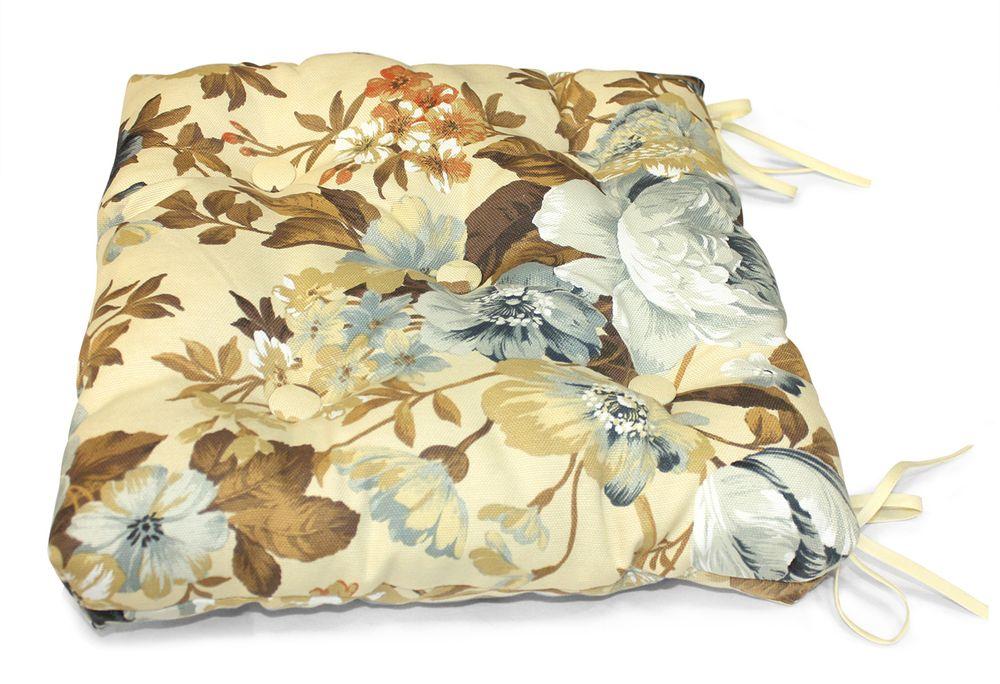 Подушка на стул Идилия, размер 40х40см, цвет серый бежевыйUN112002660