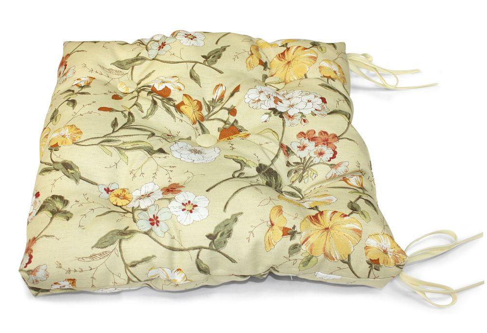 Подушка на стул Тосу, размер 40х40см, цвет горчицаUN112011630