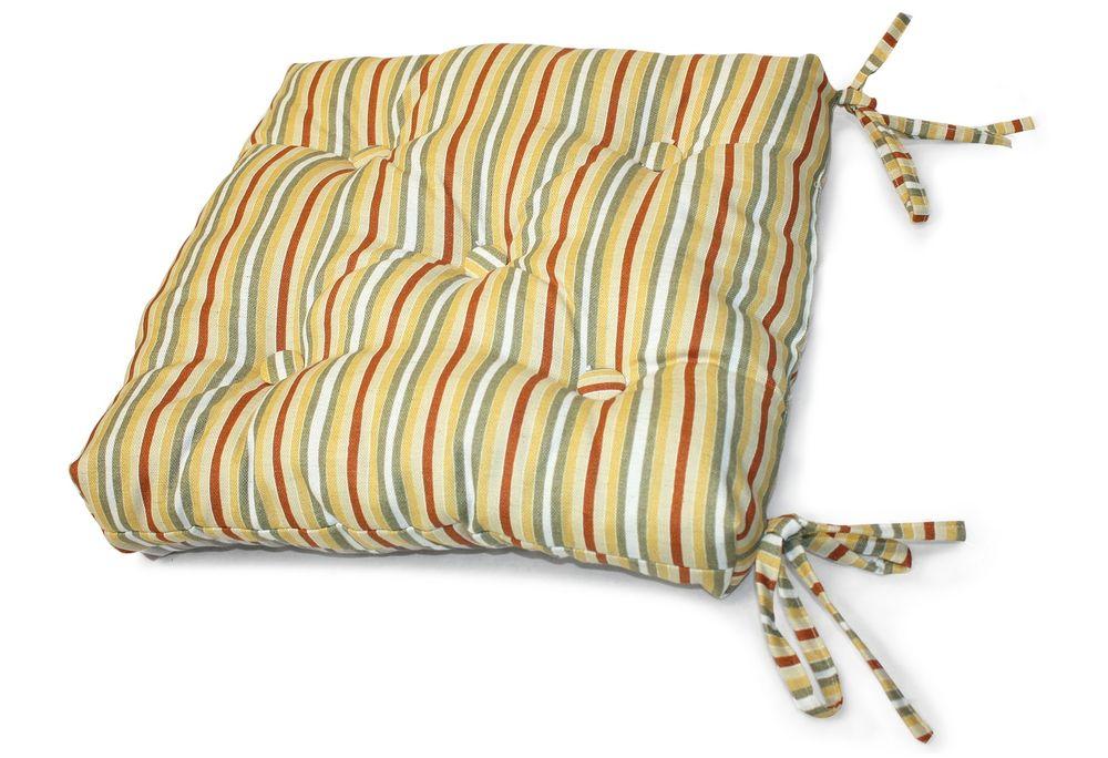Подушка на стул Аликсандра, размер 40х40см, цвет горчицаUN112013630