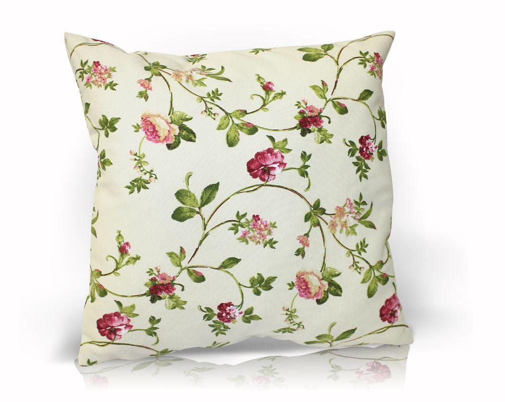 Подушка декоративная Флорида, цвет: бежевый, розовый, 40 х 40 смUN121004670Декоративная подушка Флорида прекрасно дополнит интерьер спальни или гостиной. Чехол подушки выполнен из хлопка, украшен цветочным принтом. Внутри - сама подушка из полиэстера с мягким наполнителем из полиэфира. Чехол легко снимается благодаря потайной молнии в тон ткани. Красивая подушка создаст атмосферу уюта в доме и станет прекрасным элементом декора.