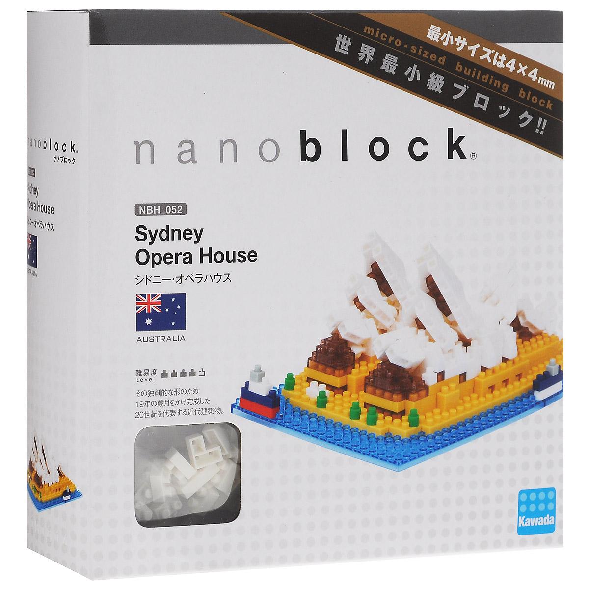 NanoBlock Мини-конструктор Сиднейский оперный театрNBH_052Мини-конструктор Сиднейский оперный театр - увлекательнейший способ времяпрепровождения и уникальная возможность собрать целую коллекцию нано-моделей реальных знаменитых архитектурных объектов. Набор включает подставку-площадку, более 430 разноцветных пластиковых мини-элементов (в том числе запасные) и графическую инструкцию-схему сборки. Детали конструктора позволят собрать всемирно известный сиднейский оперный театр. Конструктор nanoBlock - самый маленький в мире конструктор, крайне необычный, как все японское. Высокоточные трехмерные модели из деталей подобных Лего, но предельно уменьшенных в размерах, стали хитом в Японии и буквально произвели фурор в Америке, Европе, Азии и Австралии. Самая маленькая деталь конструктора - 4 мм х 4 мм, а классический прямоугольный элемент 2-на-4 точки имеет размер 8 мм х 16 мм и 5 мм высотой. Запатентованный дизайн деталей и высочайшее качество пластика обеспечивают надежное соединение даже при таких небольших размерах. ...