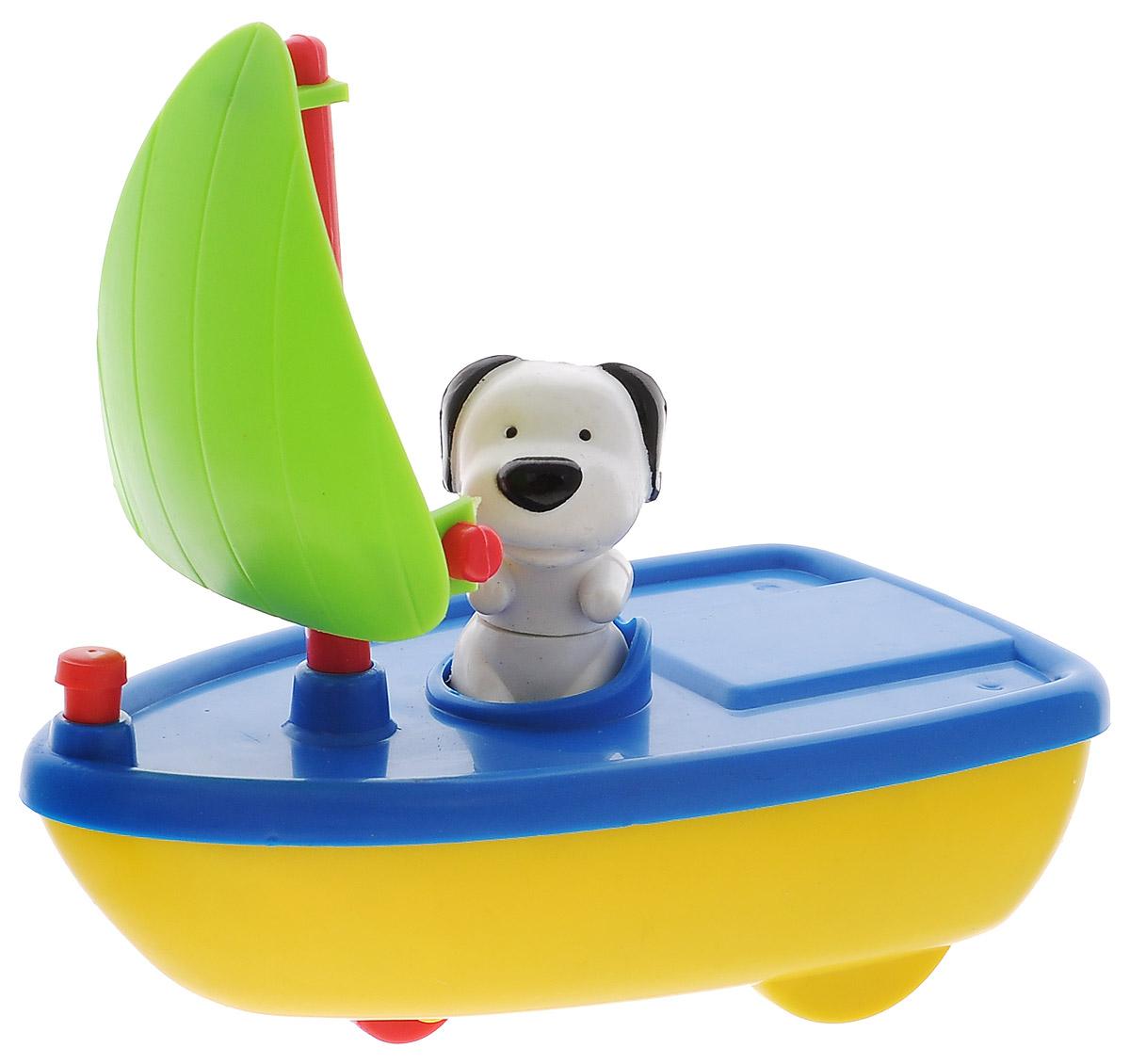 Жирафики Игрушка для ванной Гонки на воде под парусом, цвет: синий, желтый681125_парусЗаводная игрушка для ванной Жирафики Гонки на воде под парусом обязательно порадует вашего малыша и превратит купание в увлекательную игру. Игрушка ярких цветов выполнена из качественных материалов и абсолютно безопасна для малышей. Лодочка плавает по воде, брызгает во время движения. Игрушка предназначена для сюжетно-ролевых игр, развития внимания, координации движений и логического мышления.