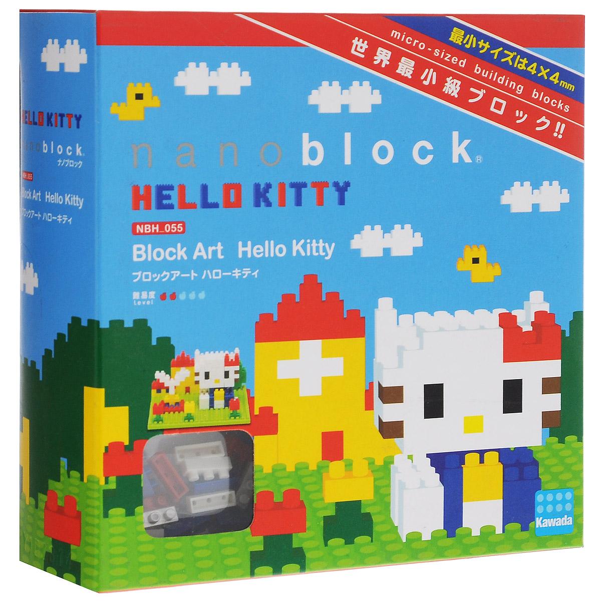 Nanoblock Мини-конструктор Hello Kitty в паркеNBH_055В конструкторе Nanoblock милая и дружелюбная Hello Kitty не прочь прогуляться. На этот раз она вышла в парк, не забыв надеть свой любимый бант на левое ушко. Конструктор Nanoblock - самый маленький в мире конструктор, крайне необычный, как все японское. Высокоточные трехмерные модели из деталей подобных Лего, но предельно уменьшенных в размерах, стали хитом в Японии и буквально произвели фурор в Америке, Европе, Азии и Австралии. Чем-то сборка этого мини-Лего похожа на решение 3D-головоломки, особенно в момент, когда продолжительные усилия по сборке вознаграждаются появлением долгожданной конструкции! В комплекте: 250 элементов,запасные элементы, площадка-основание и подробная схематичная инструкция по сборке. Примерное время сборки: 40-60 минут.