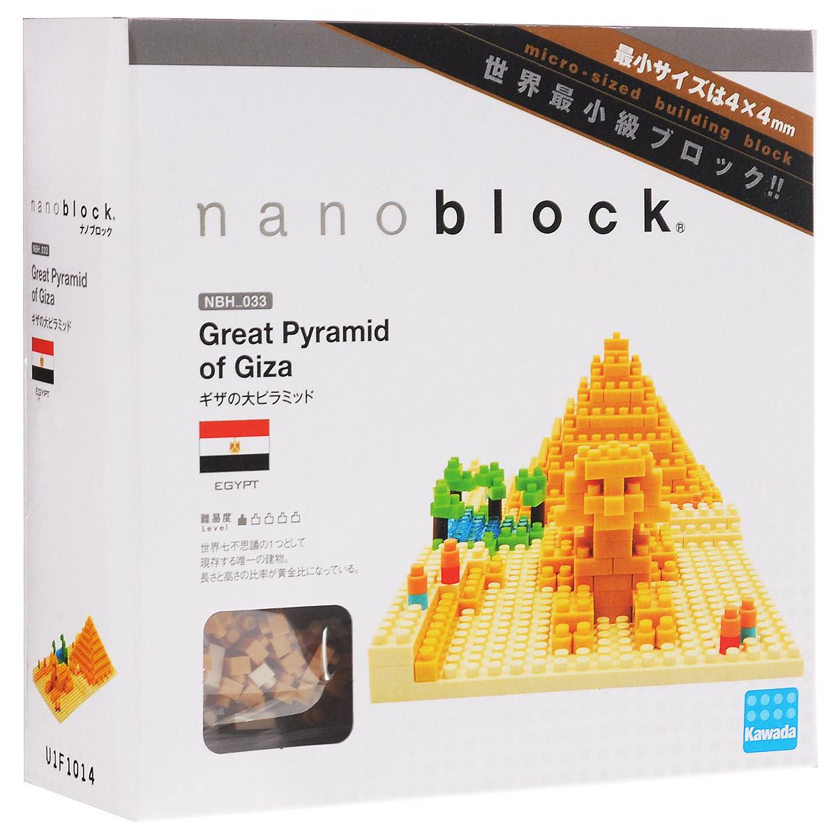 Nanoblock Мини-конструктор Пирамида ХеопсаNBH_033У вас появится уникальная возможность собрать великую Пирамиду долины Гиза, или таинственную пирамиду Хеопса в миниатюрном размере. Самая объемная и самая высокая среди всех обнаруженных в Египте древний строений, Пирамида Хеопса входит в коллекцию Nanoblock Достопримечательности, а так же в список мирового культурного наследия, ежегодно привлекая в Египет миллионы туристов со всего света. С мини-копией этого Чуда Света №1 путешествие начинается уже с первых минут сборки. Вы даже можете почувствовать себя древним строителем, возводящим грандиозный монумент. В комплекте 260 элементов + запасные, площадка-основание, подробная инструкция по сборке. Этот объект из коллекции Достопримечательности - один из любимых фанатами наноблока, которые отмечают, что в составе набора не очень много мелких деталей, а цвета кирпичиков преимущественно яркие. Конструктор Nanoblock - самый маленький в мире конструктор, крайне необычный, как все японское. Высокоточные...